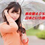 処女率40%超の日本、処女を嫌い出会い系サイトで卒業する女子急増